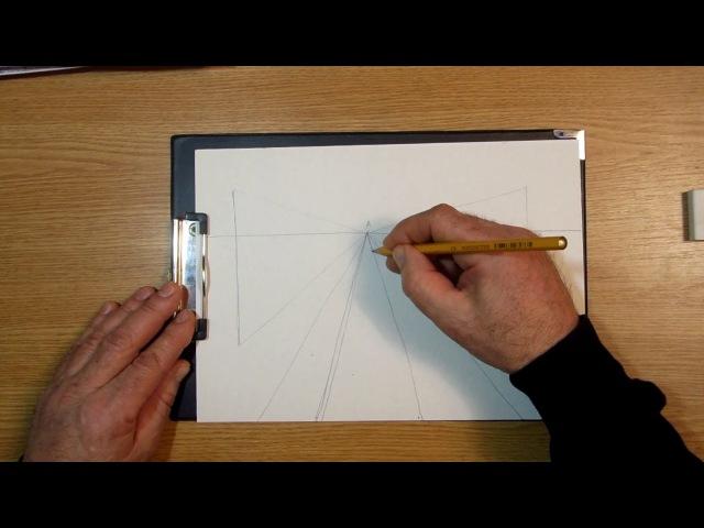 Линейная перспектива. Урок 75 Linear perspective. » Freewka.com - Смотреть онлайн в хорощем качестве