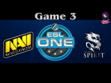 NaVi vs Team Spirit Game 3 | ESL ONE Frankfurt (20.04.2016) Dota 2
