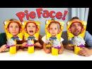 Торт в Лицо ЧЕЛЛЕНДЖ часть 100500 !! Сливки Шоу ! Игра в 4 Лица ! PIE FACE SHOWDOWN Challenge ВЫЗОВ