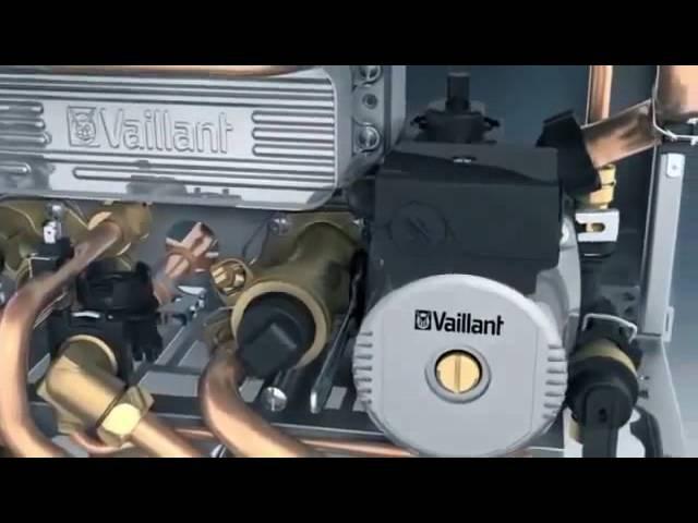Конструкция газового настенного котла Vaillant turboTec