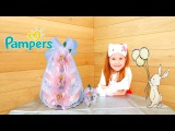 DIY How to make a DIAPER CAKE with HELLO KITTY. КАК СДЕЛАТЬ ТОРТ ИЗ ПАМПЕРСОВ от Хэлло Китти