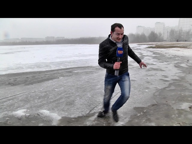 На лёд выходить опасно!