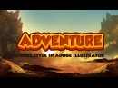Adobe Illustrator Tutorial - Adventure Text style for Game Logo