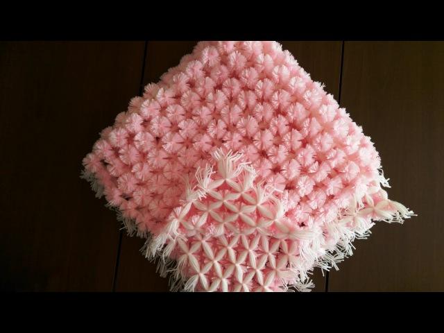 Baby Pom Pom Blanket Loom ( Ponponlu bebek battaniyesi yapımı)