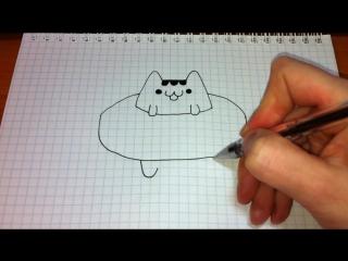 Как нарисовать котэйку Пушин.