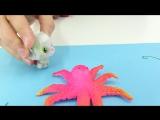 Творческие занятия с Тосей! Осьминожка из ниточек! Простые поделки для детей!