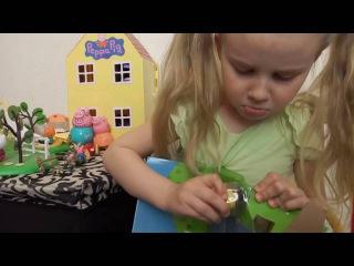 Алиса и Пожарная машина Свинки Пеппы - распаковка и обзор игрушки. Peppa`s Fire Engine - toy review