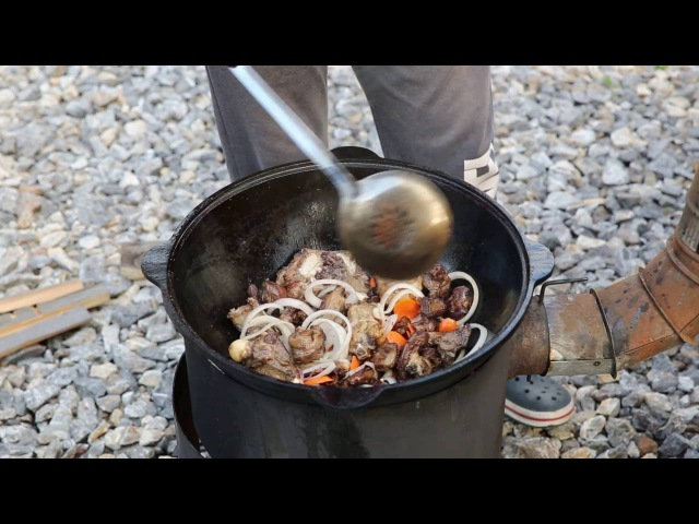 Uzbek lamb soup Узбекская ШУРПА из бараньих косточек.