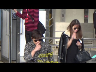 韓孝珠Han Hyo Joo(한효주)、李炳憲Lee Byung Hun(이병헌)、李珉廷Lee Min Jung(이민정) Arrived Hong Kong Airport 20161201