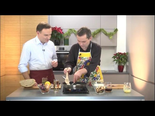 Andrzej Duda w kuchni