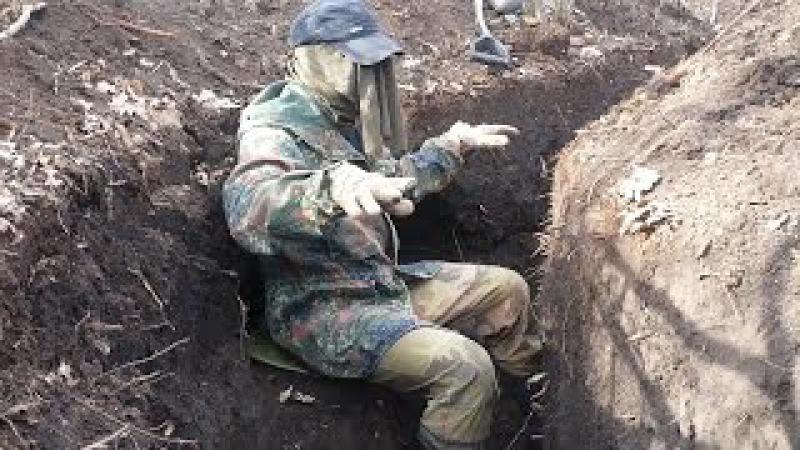 Полевая фортификация Вермахта. Окопная скамейка Обер-фельдфебеля.