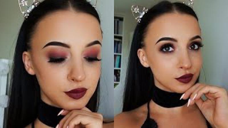 Chat Makeup Bordowe Wampirze Smokey i Usta Ombre ♥