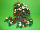 Земляника из бисера в пенечке. Часть 1/8. Чашелистики и цветочки. Strawberries from beads.