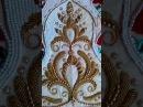 Вышивка бисером по настилу орнамента на платьице Часть 2