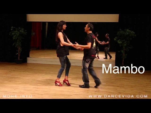3 Salsa Cuban Basic Steps: Couple Mambo rumba cumbia