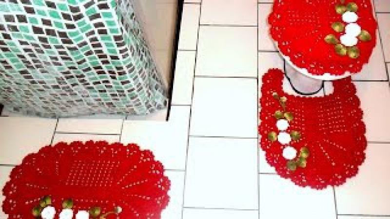 Jogo de banheiro Capa para tampa do vaso- Parte2