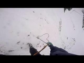 Спуск по вертикальным перилам с самосдергиванием. Горный поход. Не ГорБатая гора #11