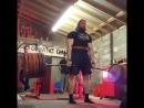 Том Мартин, тяга 370 кг на 3 раза
