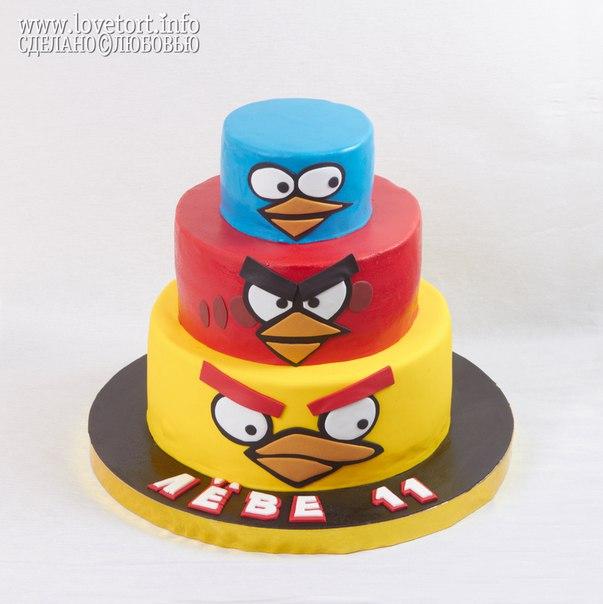 ярусный торт Angry Birds cake