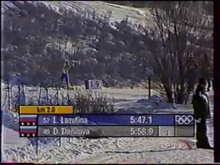 (staroetv.su) XIX зимние Олимпийские игры (РТР, февраль 2002) Лыжные гонки, женщины, 10 км