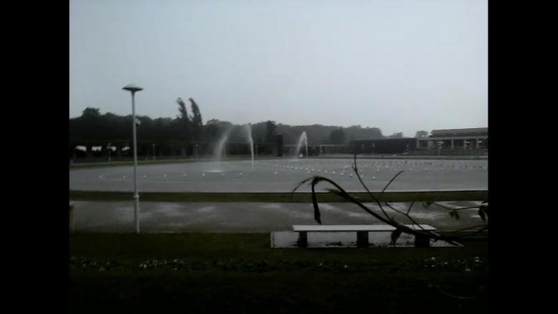 Злива у Вроцлаві Hala Stulecia
