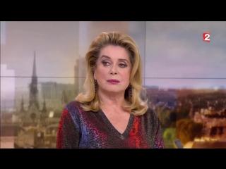 "Catherine deneuve  catherine frot ׃ interview ""laurent delahousse"" le 19 mars 2017 ."