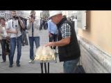 Тимофей Винковский игра на бокалах (Артель авторов  Спб)