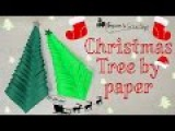 How to make Christmas tree by paper, easy 5 minutes craft by paper for kids, Xmas tree by paper