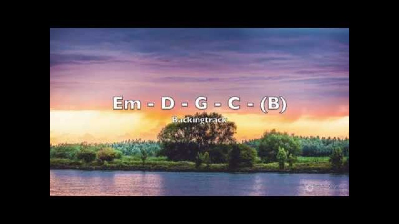 Melodic guitar backing track E minor (Em) pop ballad