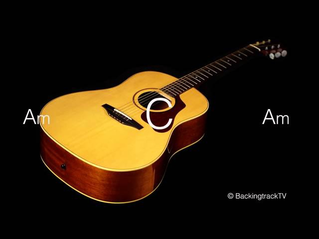 Pop Ballad Guitar Backing Track in C Major / A Minor