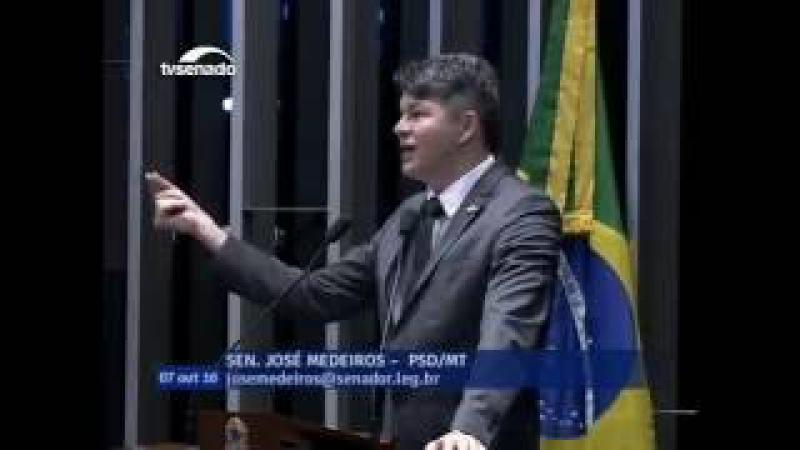 José Medeiros imita Lula e arrasa o PT em discurso no Senado