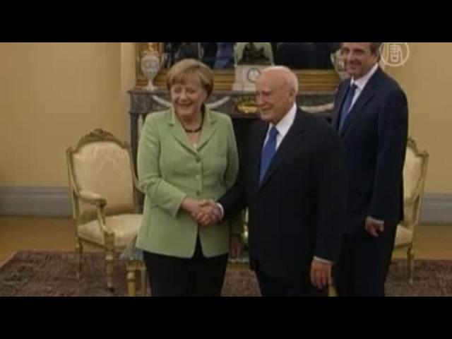 Греки встретили Меркель массовыми протестами