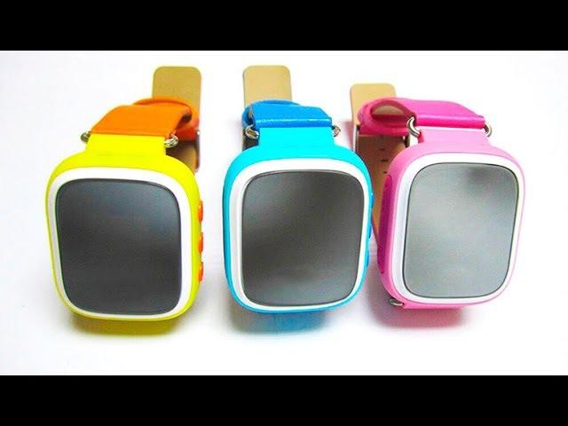 ХИТ 2016 Детские умные часы Smart Baby Watch Q80 с GPS трекером и кнопкой SOS Цветной экран