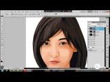 Time Lapse Tutorials Vector x vexel soft shading (Lion) Photoshop cs5 full