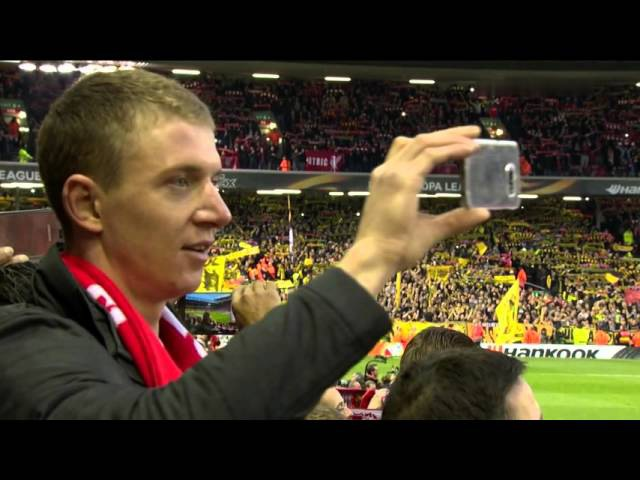 You'll Never Walk Alone Liverpool vs Dortmund 14th April 2016