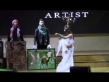 Shulkevich Veronika. My performance at the show paintings by famous artist Zlata 44
