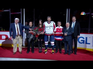 Ovechkin honored for 1,000 points