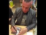 Rammstein signing autographs in Paris. 23.05.2017