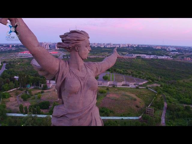 Скульптура «Родина-мать зовёт! аэрофотосъемка на Inspire1 PRO X5