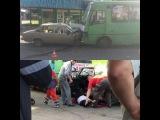 Лобовое столкноветие маршрутки и такси на Г. Труда. #Харьков