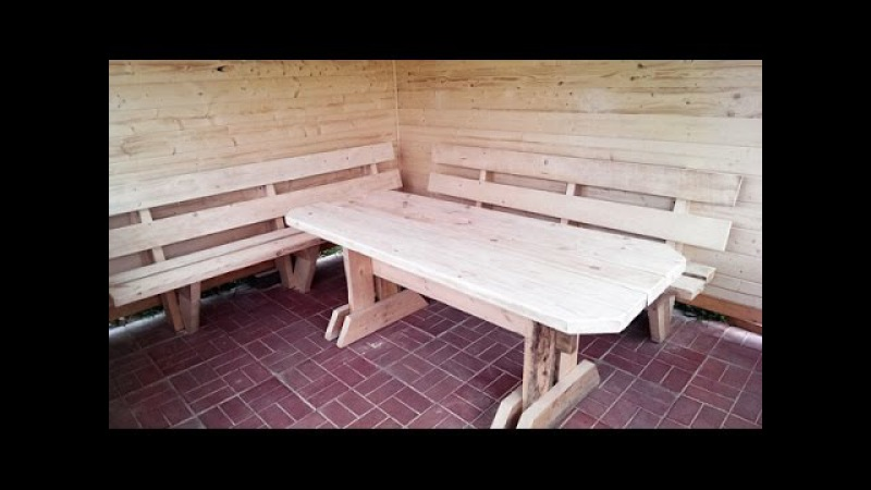 Строим беседку ч.6 (садовая мебель: стол и лавки) cnhjbv ,tctlre x.6 (cfljdfz vt,tkm: cnjk b kfdrb) cnhjbv ,tctlre x.6 (cfljdfz