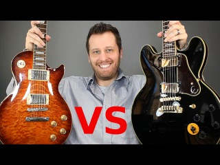 Les Paul vs Lucille! - Solid Body vs Semi-Hollow Body Comparison!