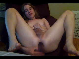 Fucking myself (transsexual, shemale, ts, t-girl, femboy, tranny, trap, webcam, show, solo, masturbation)