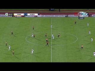 Pumas (Mexico) - Olimpia (Paraguay). Grupo 7. Fecha 5. Primer tiempo