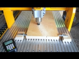 Фанера 21 мм, компрессионная фреза 4 мм, 3 прохода.