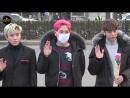 10.03.17 B.A.P (Music Bank) 꽃을 든 남자들 @뮤직뱅크 출근길