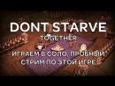 Dont Starve Together Играем в соло Пробный стрим