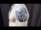Процесс нанесения художественной татуировки, тату студия VALKIRIA /г.Пермь