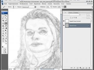 перевод фотографии в рисунок карандашом