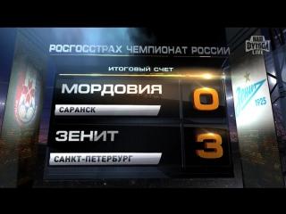 Обзор матча_ Футбол. РФПЛ. 28-й тур. Мордовия - Зенит 0_3